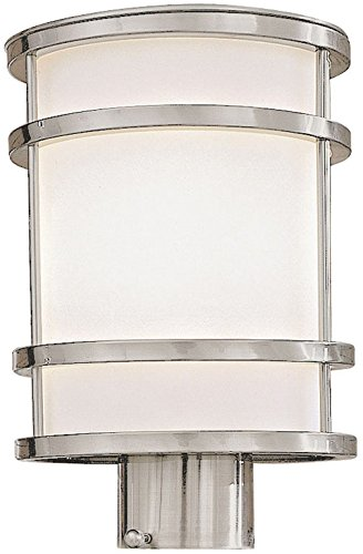 (Minka Lavery Outdoor Post Lights 9806-144, Bay View Exterior Lighting Fixture, 75 Watts, Stainless Steel)