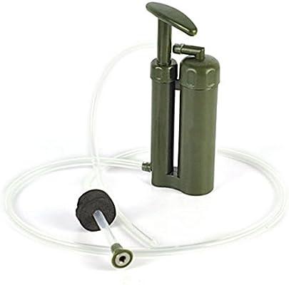 aquiver Bomba Agua Filtro Purificador soldado de senderismo camping Mini Pure portátil de emergencia: Amazon.es: Deportes y aire libre