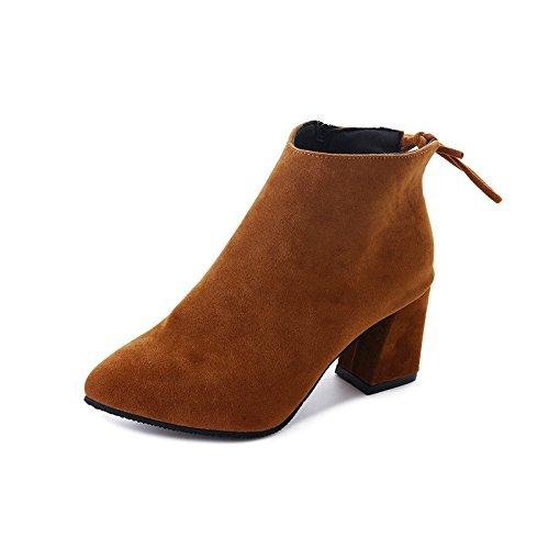 Thirty in donna colore scamosciata stivali punta a pelle four Martin puro di casual stivali testa Martin Cerniera pqwYZ