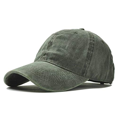 Super-fantastic-store Bone Cap Blue Denim Cotton Baseball Cap a Golf Fishing Snapback Hiphop Men's hat 12 Solid Colors Z-6207,Army Green -