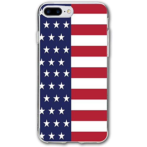 Patriotic USA American Flag Stripes and Stars Resistant Cover Case Compatible iPhone 7 Plus iPhone 6 Plus 5.5IN]()