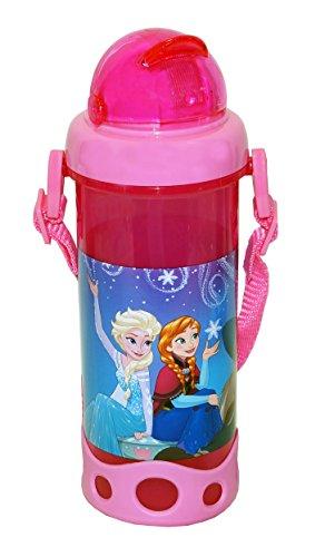 Fun Kids 1669-293 Fun Kids Cantimplora de plático Frozen con silicón, color Rosa
