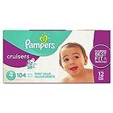 Pampers Cruisers Pañales Etapa 4, 104 Piezas