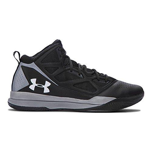 Under Armour Men's Jet Mid Basketball Shoes, Black/Steel, 8.5 (Under Armour Socks Men Quarter)