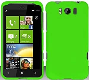 TRENDE - Neon Green Hard Snap On Case Cover Faceplate Protector for HTC Titan X310e + Free Texi Gift Box