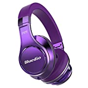 Amazon Lightning Deal 97% claimed: Bluedio U (UFO) High-End Bluetooth headphones Revolution Patented 8 Tracks /3D Sound Effect /Aluminum alloy build/Hi-Fi Rank wireless&wired Over-Ear headphones/headset with carrying hard case Gift-package (Purple)
