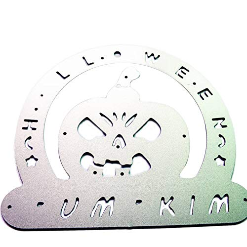 LBgrandspec Halloween Pumpkin Metal Cutting Mold DIY Cut and Paste Decorative Embossing Mold Silver]()