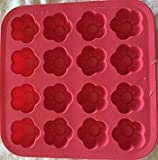 """IKEA PLASTIS Synthetic rubber ICE CUBE TRAY""""PINK FLOWER"""