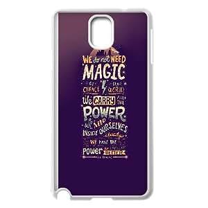 Samsung Galaxy Note 3 Cell Phone Case White We Do Not Need Magic JK Rowling Vyeva
