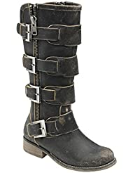 CORRAL Womens Straps and Zipper Fashion Boots