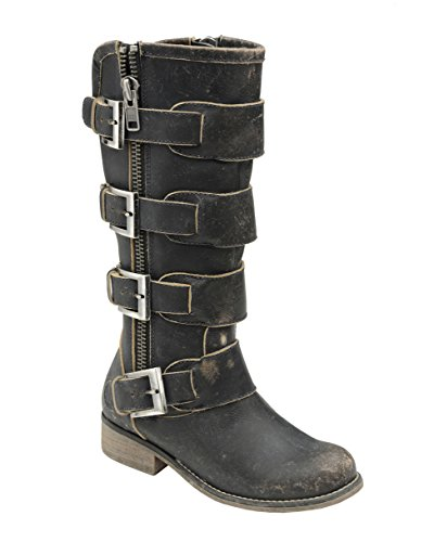 Womens New Corral - Corral Womens Distressed Black Straps & Zipper, Size: 7.5, Width: M (P5079-Ld-M-
