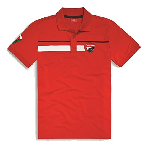 ducati-corse-speed-short-sleeve-polo-shirt-lg-red