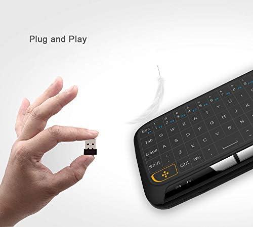 BAIYI Mini USB 2.4Ghz Teclado Virtual Inalámbrico Touchpad ...