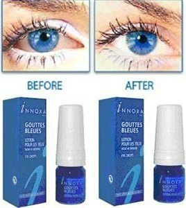 2 x Innoxa Gouttes Bleues French eye drops 2 x 10 ml (0.35 fl.oz) (Collyre Bleu Laiter Clear Blue Eye Drops)