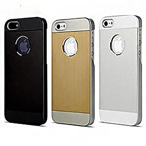 JJE Brushed Metal Hard Case for iPhone5/5S (Assorted Color) , Silver