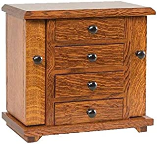 "product image for DutchCrafters Amish 13"" Dresser Top Jewelry Cabinet (Oak - OCS 102)"