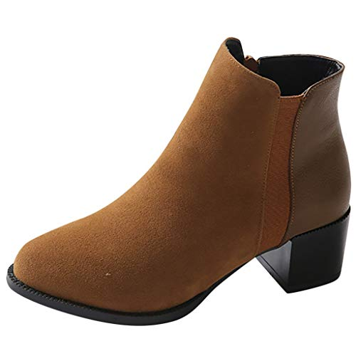 1460 Smooth Combat Boot,Londony Women's Round Toe Zipper Ankle Boots Ladies Leather Combat Booties Fashion Boots ()