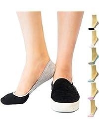 Women's No Show Socks, Loafer Socks Boat Shoe Socks Liner Socks with Coolplus, Non-Slip Grip