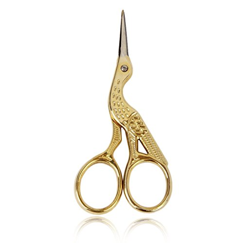 So Beauty False Eyelash and Eyebrow Trimmer Cutter Scissors in Peacock Shape Gold and Silver