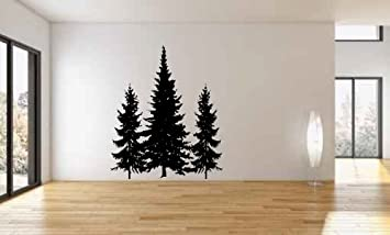 Pine Trees Vinyl Wall Decal Sticker Graphic Mural By LKS Trading Post Part 54