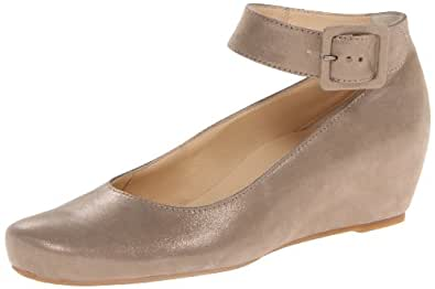 Paul Green Women's Ankle Strap Mary Jane Wedge Pump,Taupe,8 M US