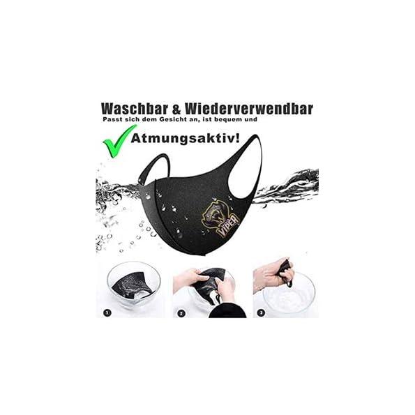 Mundbedeckung-5er-Pack-Unisex-3D-Atmungsaktiv-Waschbar-Gesicht-Mund-Nasen-Bedeckung-Face-Shield-Stoff-Kinder-Damen-Herren-Jungs