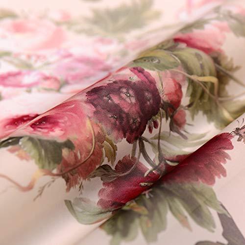 Buntha.winee7098 Printed Organza Fabric 138140CM/PCS Impressionism 2017 New Digital Print Organza Satin Mulberry Silk Natural Fabric for Dress Tissu Meter ()