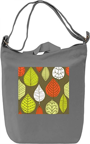 Red Autumn Leafs Pattern Borsa Giornaliera Canvas Canvas Day Bag| 100% Premium Cotton Canvas| DTG Printing|