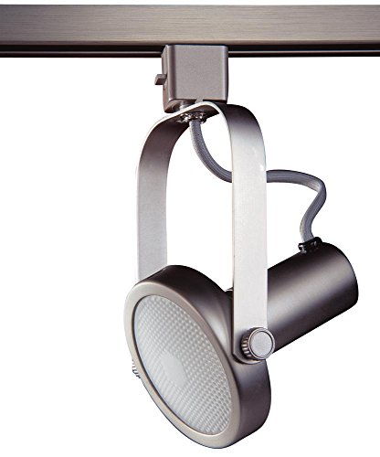 Kendal Lighting TL1602-BST   Designers Choice Gimbal Ring 1 Light 120V Track Head, Brushed Steel Finish