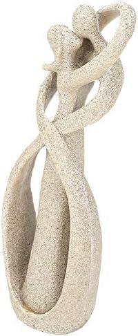 VIFER Statua di arenaria Amante di arenaria Fatto a Mano Bacio Coppia Statua Scultura Scolpita Figurina Art Craft Decoration