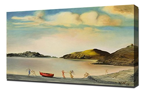 Salvador Dali Port Lligat Au Coucher Du Soleil Framed Canvas Art Print Reproduction