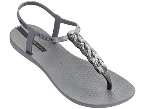 Ipanema Braid Women's Sandals, Gray/Silver (11 US)