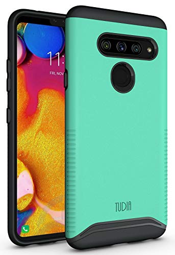 LG V40 Case, LG V40 ThinQ Case, TUDIA [Merge Series] Dual Layer Heavy Duty Reinforced Military Standard Extreme Drop Protection/Rugged Slim Precise Cutouts Phone Case for LG V40 ThinQ (Mint)