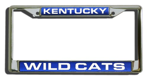 Rico Industries NCAA Kentucky Wildcats Laser Cut Inlaid Standard Chrome License Plate Frame