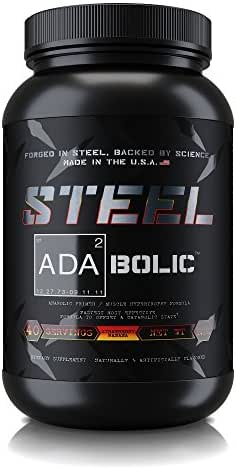 Steel Supplements ADA2Bolic Workout Recovery Aid Powder Restores Muscle Glycogen 3.75lbs (Strawberry Banana)