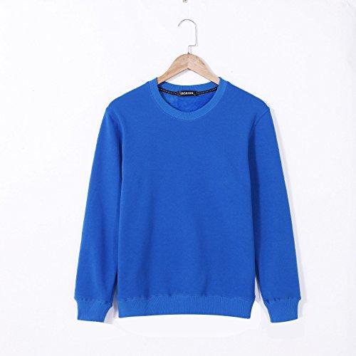 Lisux große Code und großen im Herbst und Winter Pullover - Kaschmir - Pullover und Slim Farbe Plus Pullover,Royal Blau,XXXL