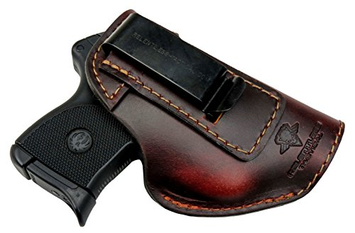 Relentless Tactical The Defender Leather IWB Holster - Made in USA - Fits Ruger LCP, LCP2, Sig P238, P290, S&W Bodyguard .380 and Most .380's - Made in USA - Brown Right Handed