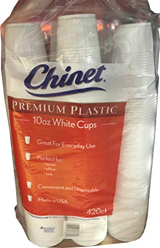 Chinet White Cups 420 Count - 10 oz (Free Return Shipping)