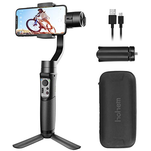 Smartphone Gimbal Stabilizer 3-Axis Handheld Phone Gimble with Face Tracking for Android Smartphone, for iPhone Xs/XS MAX/XR/8P/8, for Galaxy S10, S9 (Hohem iSteady Mobile Plus: 2019 New - Face Mobile