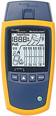 Fluke Networks MS2-100 MicroScanner2 Copper Cable Verifier with Built-In IntelliTone Toning, Troubleshoots RJ1