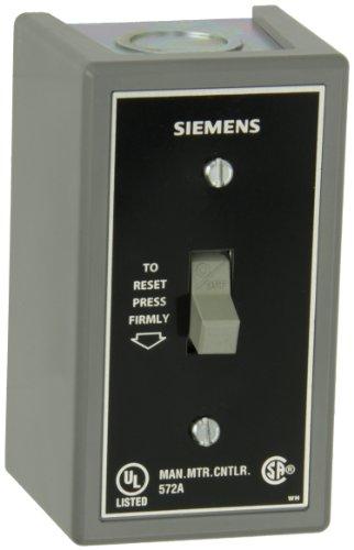 Siemens SMFFG2 Fractional HP Starter, Single Phase, NEMA Type 1 General Purpose Enclosure, Surface Mounting, Standard Starter Feature, Toggle Operator Type, 2 Poles