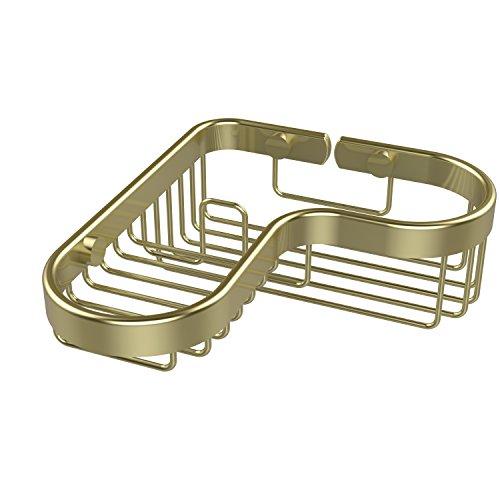 Allied Brass BSK-225LA-SBR Corner Combination Shower Basket, Satin (Shower Basket Satin Brass)