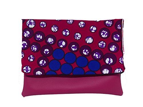 rabat femme Fleur Imprimé Africain Wax 1 geometrique 2 Motif Tissu Sac Pochette Pochette Sac en Sac a f04Uw