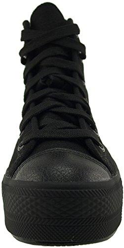 Sneakers Canvas Schwarz Schuhe High Top Einfarbig Maxstar N30 wOnq0XEI