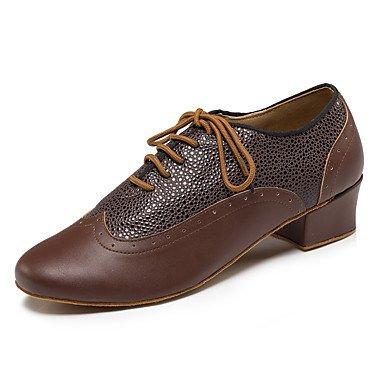 Tacón Brown blanco Cuadrado baile de Negro Personalizables Latino Zapatos Moderno Negro Swing Marrón Zapatos de Rojo Jazz 6qgSaw