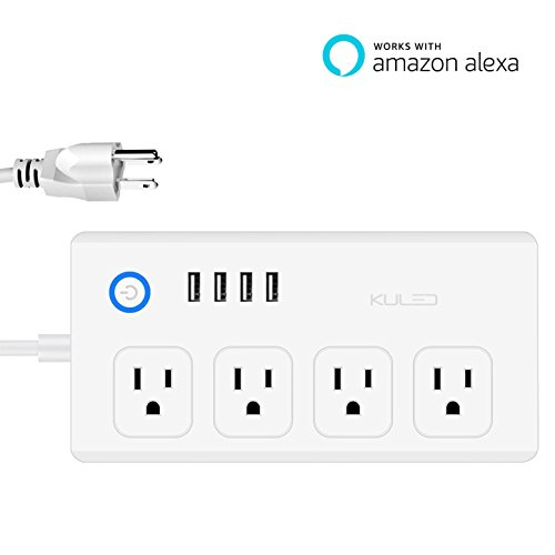 WiFi Smart Power Strip Socket, Compatible with...
