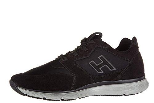 Hogan Mænds Sko Mænd Ruskind Sneakers Sko Traditionelle H Flok Sort Sort pxPJqZU