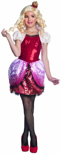 Teen Snow White Princess Costumes (Ever After High Deluxe Apple White Costume, Child's Small)