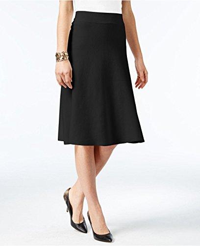 Milano Womens Skirt (Alfani Milano Women's Fit & Flare Sweater Skirt (Deep Black, XL))