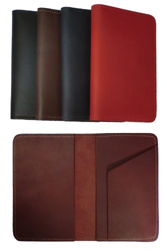 New Leather Top Stub Checkbook Cover Wallet for Top Stub Checks - Brown